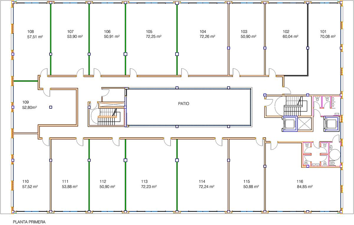 Akarregi, 10 plano oficinas planta 1