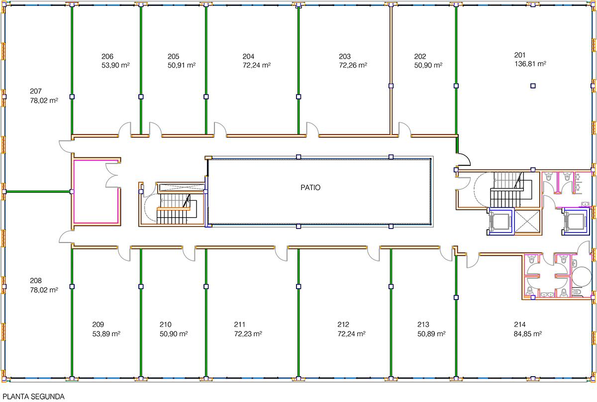 Akarregi, 10 plano oficinas planta 2